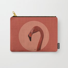 Round Flamingo Carry-All Pouch