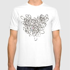 Unmapped 9 MEDIUM Mens Fitted Tee White