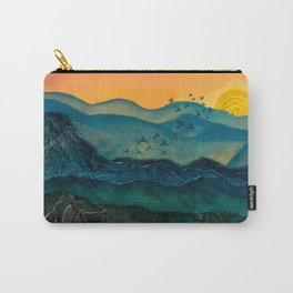 Textured mountainscape Carry-All Pouch