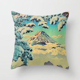 Kehiin in the Snow Throw Pillow