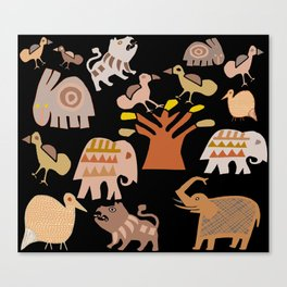 Jungle Party Canvas Print