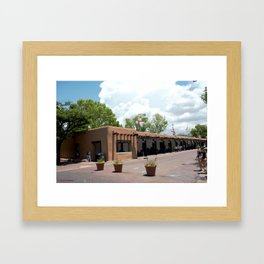 Santa Fe Old Town Square, No. 6 of 7 Framed Art Print