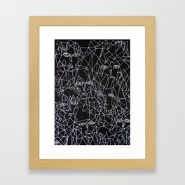 Tracing Faces  Framed Art Print