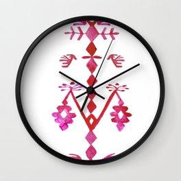 Ethnic Kilim Pattern Tree of Life Wall Clock