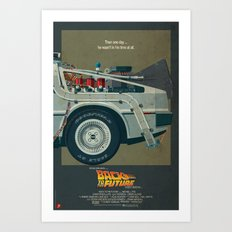 DeLorean Time Machine, Back to the Future Version 1 III/III Art Print