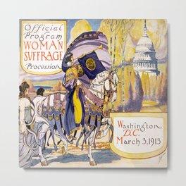 Vintage poster - Woman Suffrage Procession Metal Print
