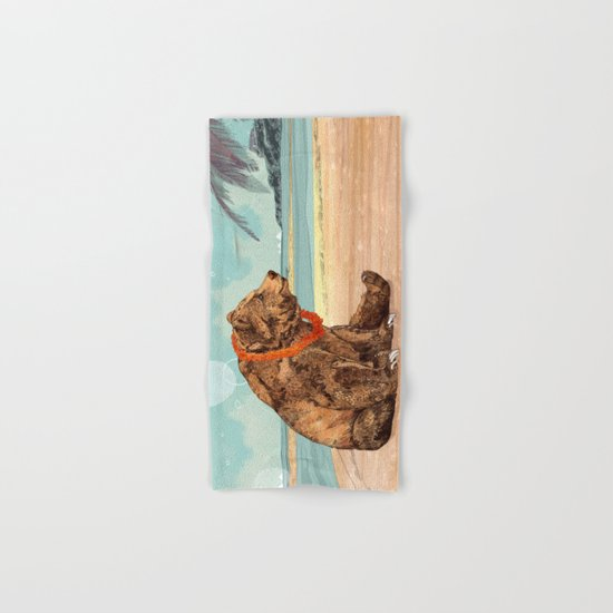 Beach Bear Hand & Bath Towel