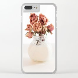 Dying Roses Clear iPhone Case