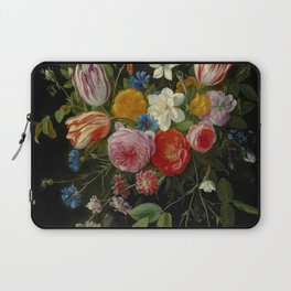 "Jan van Kessel de Oude ""Tulips, peonies, chicory, carnations, cherry blossom and other flowers"" Laptop Sleeve"