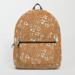 garland flowers orange Backpack