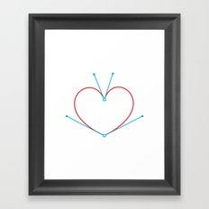 Bezier Love Framed Art Print
