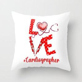 LOVE Cardiographer apparel nurse gifts for women Throw Pillow