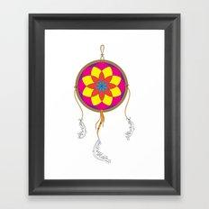Dream Catcher Colour Framed Art Print