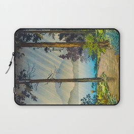 Tsuchiya Kôitsu Japanese Woodblock Vintage Print Light Shining Through Forest Trees Lake Laptop Sleeve