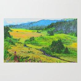 Alaska's Kenai Peninsula - Watercolor Rug