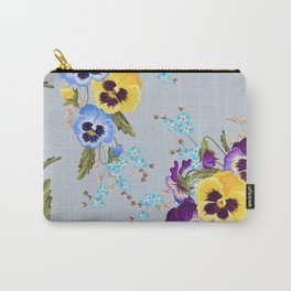 Pansies (Blue) Carry-All Pouch