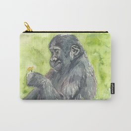 Baby Gorilla Watercolor Painting Carry-All Pouch