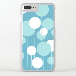 Float - Blue & White Clear iPhone Case