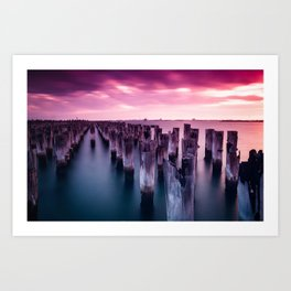 Princes Pier, Melbourne Art Print