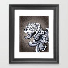 Ornamental Pit Bull Framed Art Print