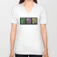 brooklyn bridge V-neck T-shirts featuring Brooklyn Bridge by Mayar NK