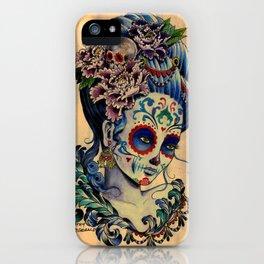 Marie de los Muertos iPhone Case
