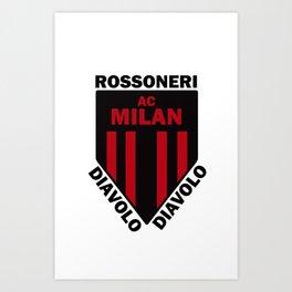 Slogan Milan Art Print