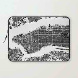 New York city map black and white Laptop Sleeve