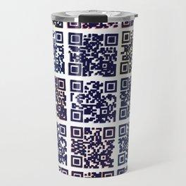 QR Codes to Playlists Travel Mug