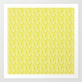 Typography Pattern / Susanne Art Print