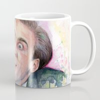 nicolas cage Mugs featuring Nicolas Cage You Don't Say by Olechka