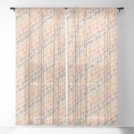 You and Me Golden Sheer Curtain