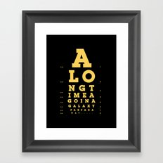 Jed Eye Chart Framed Art Print