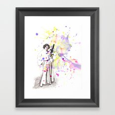 Princess Leia From Star Wars Framed Art Print