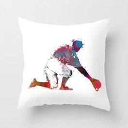 Baseball player 5 #baseball #sport Throw Pillow