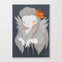 hawaiian Canvas Prints featuring Hawaiian Raven by STUDIOKILLERS