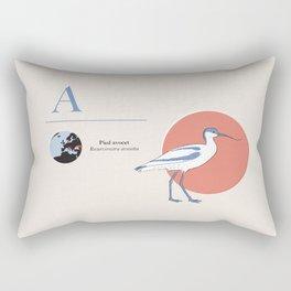 Pied avocet Rectangular Pillow