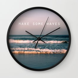 Make Some Waves Wall Clock