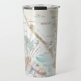 Anais Nin Vintage Mermaid Map Travel Mug