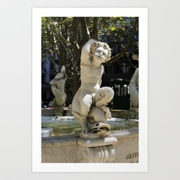 Plaza Matriz Montevideo Art Print