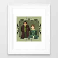 jane eyre Framed Art Prints featuring String (Jane Eyre) by Rebecca Brown