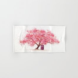 Tardis Tree Art Blossom Hand & Bath Towel