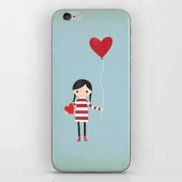 Love is in the Air - Girl iPhone Skin