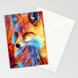 Fox Watercolor Stationery Cards