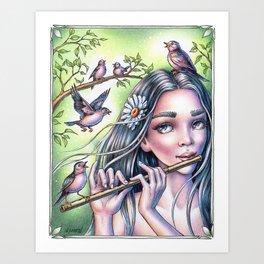Birdsong Fairy Art Print
