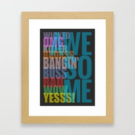 Awesome - Typography Poster Framed Art Print