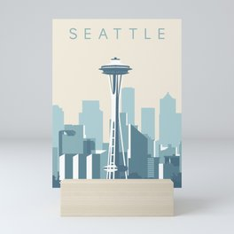 Seattle Cityscape Mini Art Print