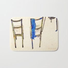 Egon Schiele - Chairs (new editing) Bath Mat