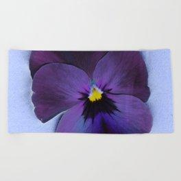 Ultra violet viola tricolor Beach Towel
