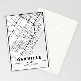 Oakville Light City Map Stationery Cards